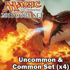 Magic 2011 (M11) Core Set Complete Set Commons/Uncommons x4