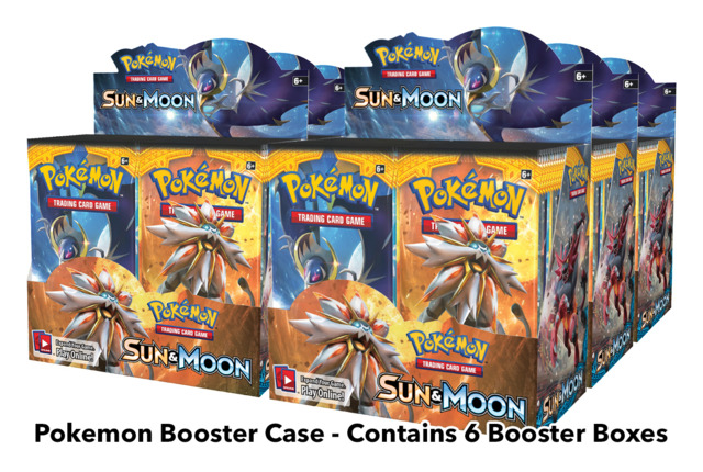 SM Sun & Moon (SM01) Pokemon Booster  Case (6 Boxes)