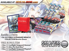 CFV-V-EB03  Bundle (B) Silver - Get x6 ULTRARARE MIRACLE COLLECTION Cardfight Vanguard Booster Box + FREE Bonus Items