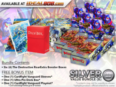 CFV-V-EB01  Bundle (B) Silver - Get x6 The Destructive Roar Cardfight Vanguard Booster Box + FREE Bonus Items * Ships Aug.03