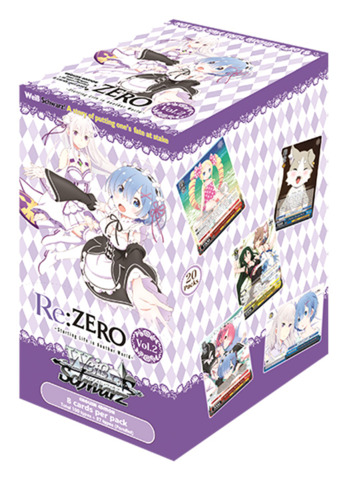 Re:ZERO -Starting Life in Another World- Vol.2 (English) Weiss Schwarz Booster Box [20 Packs]