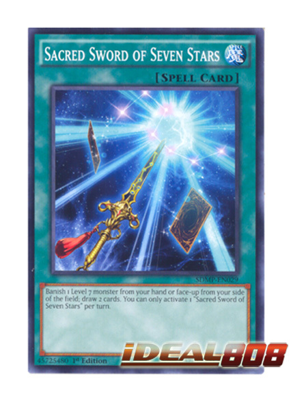 Yu-Gi-Oh 1x Sacred Sword of Seven Stars Master of Pendulum SDMP