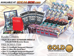 CFV-V-EB03  Bundle (C) Gold - Get x8 ULTRARARE MIRACLE COLLECTION Cardfight Vanguard Booster Box + FREE Bonus Items