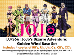 [JJ/S66] JoJo's Bizarre Adventure: Golden Wind (EN) Base Playset [Includes RR's, R's, U's, C's, CR's, CC's (400 cards)]