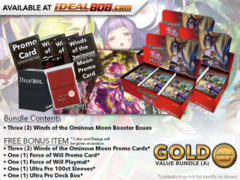 Force of Will Bundle (A) Gold - x3 Winds of the Ominous Moon Booster Boxes + FREE Bonus