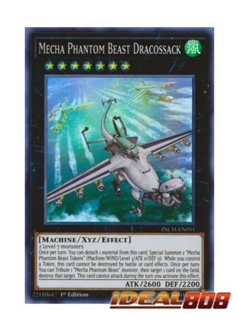 Mecha Phantom Beast Dracossack - INCH-EN051 - Super Rare - 1st Edition