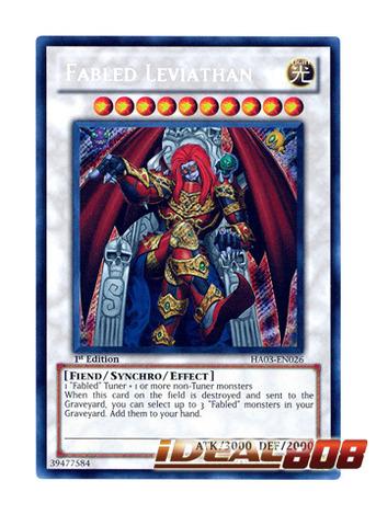 Fabled Leviathan - HA03-EN026 - Secret Rare - 1st Edition