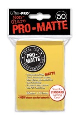 Ultra Pro Matte Non-Glare Large Sleeves 50ct. - Yellow (#84186)