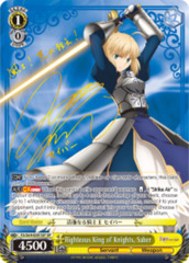 Righteous King of Knights, Saber [FS/S64-E001SP SP (SIGNED FOIL)] English