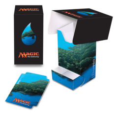 Magic the Gathering MANA 5 Ultra Pro Deck Box with Tray - Unhinged Island (#86532)