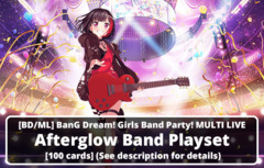[BD/ML] BanG Dream! Girls Band Party! MULTI LIVE (EN) Afterglow Band Playset [100 cards] (See description for details)