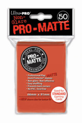 Ultra Pro Matte Non-Glare Large Sleeves 50ct. - Peach (#84153)