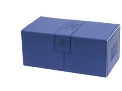 Twin Flip'n'Tray Xenoskin™ Deck Case 200+ by UltimateGuard - Blue