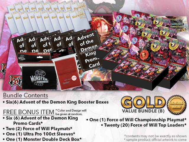 Force of Will Bundle (B) Gold - x 6 Advent of the Demon King + FREE Bonus * PRE-ORDER Ships Dec.15