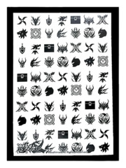 Future Card Buddyfight X Bushiroad Large Sleeves (55ct) Flags - Black & White