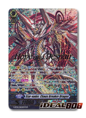 Star-vader, Chaos Breaker Dragon - G-BT05/SR04EN - SCR (Hope and Despair)