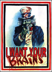 I Want Your Brains Large Sleeves (50ct)