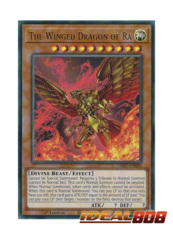 The Winged Dragon of Ra - LED7-EN000 - Ultra Rare - 1st Edition (Altenate Artwork)