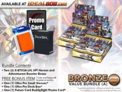 FC-Buddyfight X-BT03A Bundle (A) Bronze - Get x2 LVL UP! Heroes and Adventurers Booster Box + FREE Bonus Items