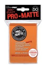 Ultra Pro Matte Non-Glare Large Sleeves 50ct. - Orange (#84184)