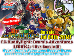 FC-Buddyfight BT03 Bundle (B) - Get x4 Drum's Adventure Booster Box + FREE Bonus (Playmat & Storage Box)