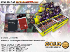 FoW-NV02 Bundle (A) Gold - x3 The Strangers of New Valhalla (SNV) Force of Will Booster Boxes + FREE Bonus Items