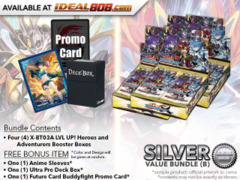 FC-Buddyfight X-BT03A Bundle (B) Silver - Get x4 LVL UP! Heroes and Adventurers Booster Box + FREE Bonus Items