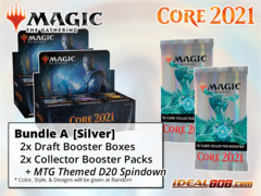 !MTGM21 BUNDLE (A) Silver - Get x2 Core Set 2021 Booster Box + x2 Collector Packs