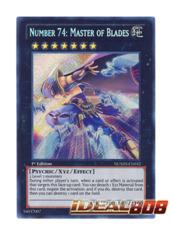 Number 74: Master of Blades - NUMH-EN032 - Secret Rare - 1st Edition