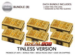 Yugioh 2020 Tin (Tin-Less Version) - Bundle (B) - Get x6 Tin-Less Versions + Bonus Item * PRE-ORDER Ships Aug.28