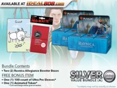 MTGRNA Bundle (A) Silver - Get x2 Ravnica Allegiance Booster Box + FREE Bonus Items * PRE-ORDER Ships Jan.25