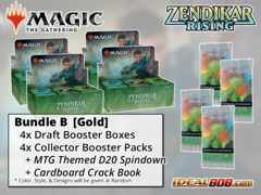 !MTGZNR BUNDLE (B) Gold - Get x4 Zendikar Rising Booster Box + x4 Collector Packs * PRE-ORDER Ships Sep.25