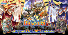 BFE-S-BT05 War of Dragods (English) Future Card Buddyfight Ace Booster  Case [16 Boxes]