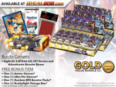 FC-Buddyfight X-BT03A Bundle (C) Gold - Get x8 LVL UP! Heroes and Adventurers Booster Box + FREE Bonus Items