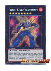 Coach King Giantrainer - NUMH-EN037 - Secret Rare - 1st Edition