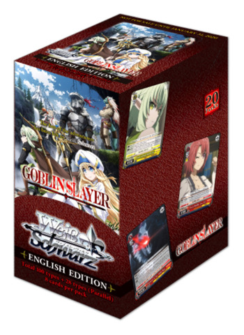 Goblin Slayer (English) Weiss Schwarz Booster Box [20 Packs] * PRE-ORDER Ships Jan.31, 2020