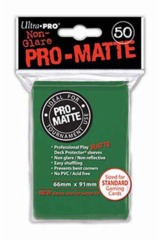 Ultra Pro Matte Non-Glare Large Sleeves 50ct. - Green (#82652)