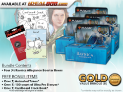 MTGRNA Bundle (B) Gold - Get x4 Ravnica Allegiance Booster Box + FREE Bonus Items * PRE-ORDER Ships Jan.25