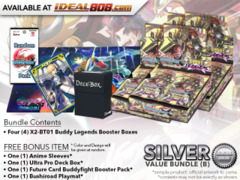 BFE-X2-BT01 Bundle (B) Silver - Get x4 Buddy Legends Booster Box + FREE Bonus Items
