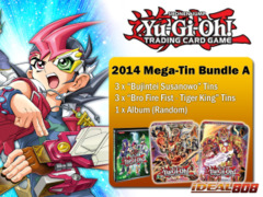 Yugioh 2014 Mega-Tin Bundle (A) - Get x3 Susanowo & x3 Fire Fist - Tiger King Tins + FREE Bonus (Album)
