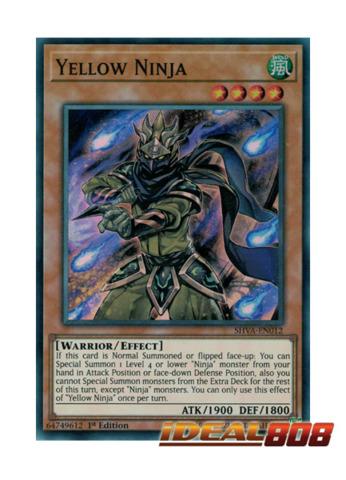 Yellow Ninja - SHVA-EN012 - Super Rare - 1st Edition