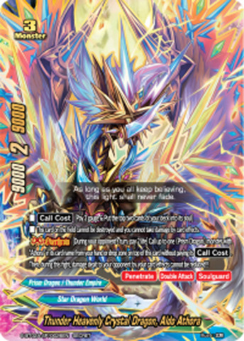 Thunder Heavenly Crystal Dragon, Aldo Athora [S-BT02A-SP/0026EN Secret (FOIL)] English