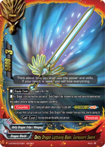 Deity Dragon Lightwing Blade, Garwyvern Sword [S-BT06/0070EN Secret (FOIL)] English