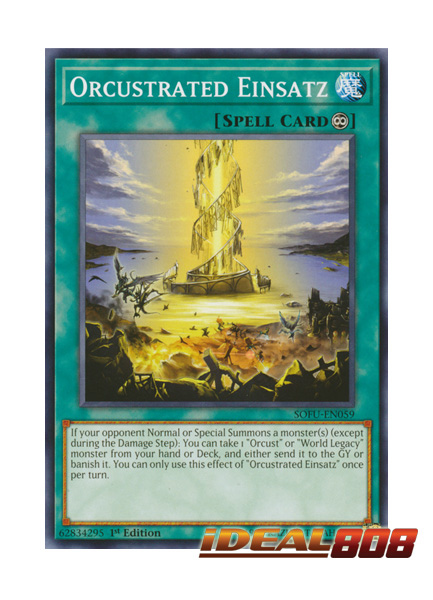 1st Edition Yu-Gi-Oh Common M//NM SOFU-EN059 x3 Orcustrated Einsatz