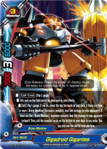 Gigadroid Gigantes [D-BT04/0016EN RR (FOIL)] English