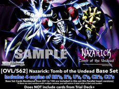 [OVL/S62] Nazarick: Tomb of the Undead <Overlord> (EN) Base Playset [Includes RR's, R's, U's, C's, CR's, CC's (400 cards)]