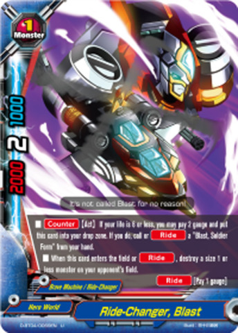 Ride-Changer, Blast [D-BT04/0069EN U (FOIL)] English