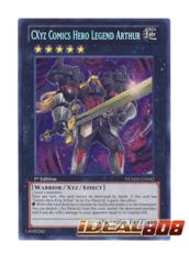 CXyz Comics Hero Legend Arthur - NUMH-EN042 - Secret Rare - 1st Edition