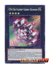CXyz Battleship Cherry Blossom - NUMH-EN044 - Secret Rare - 1st Edition