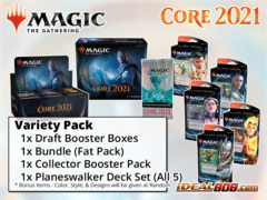 !MTGM21 VARIETY PACK - Get x1 Core Set 2021 Booster Box; x1 Bundle; & x1 Planeswalker Deck Set , x1 Collector Pack
